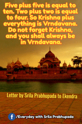 you shall always be in Vrndavana