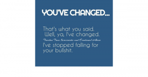 Ive changed