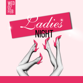 Ladies night #invitation #promotion #club #fun #dance #ladies #girlsnight #