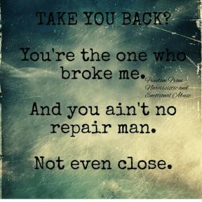 You're no repair man