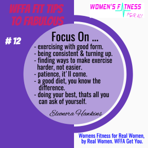 WFFA Fit Tips to Fabulous #12
