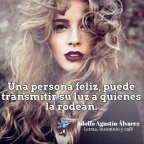 Una persona feliz
