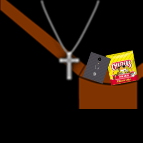 Strap bag with Hot fries with ZTE blade spark phone with Cross Chain