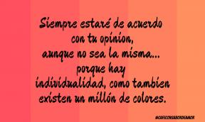 #individualidad #opiniones #diferencias