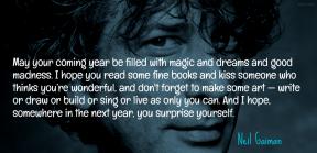 Gaiman - may your coming year