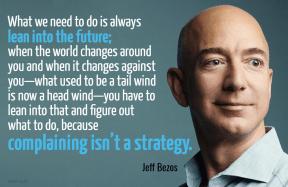Bezos - lean into future complaining strategy