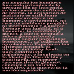 Ideología de género y suicidio de la nación española