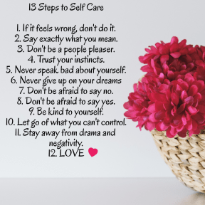 13 Steps to Self Care