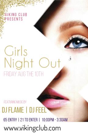Girls night out #invitation #poster #club #girlsnightout #girls #fun #dance #music