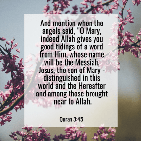 Quran 3:45 Mary and Jesus