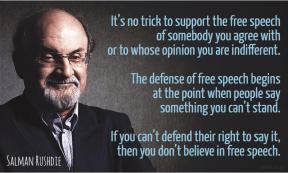 Rushdie - defense of free speech