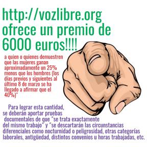 vozlibre ofrece un premio de 6000 euros