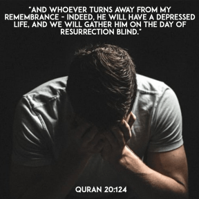 Quran 20:124 depressed life