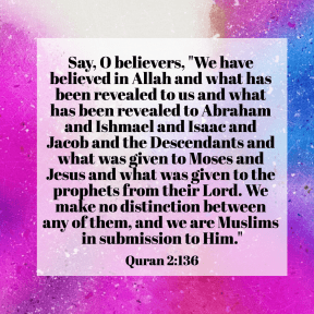 Quran 2:136 no distinction in religion