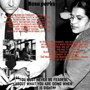 Emeline Aelig Jeanne Rosa parks