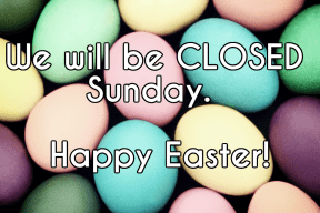 Closed easter sunday