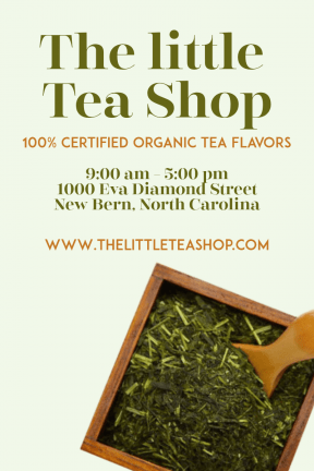 The tea shop #tea #green #teashop #business #poster #eco