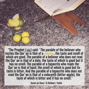 Quran and citron
