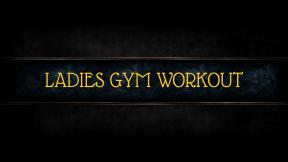 ladies gym workout