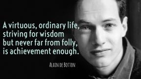 De Botton - virtuous ordinary life