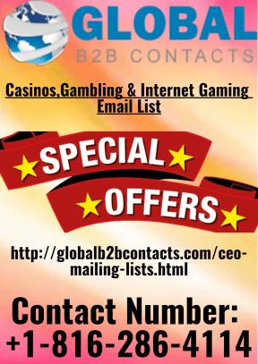 Casinos,Gambling & Internet Gaming Email List