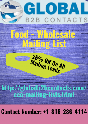 Food - Wholesale Mailing List