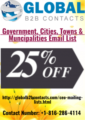 Government Towns, Cities and Municipalities Email List