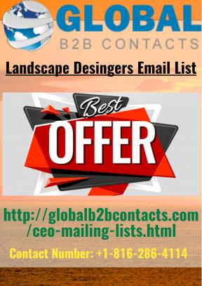 Landscape Designers Email List