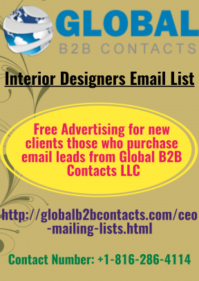 Interior Designers Email List