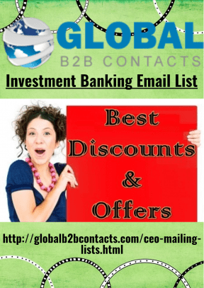 Investment Banking Email List