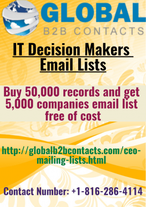 IT Decision Makers Email Lists