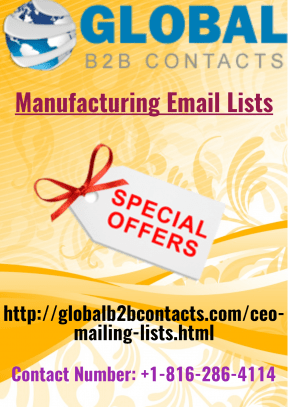 Manufacturing Email Lists