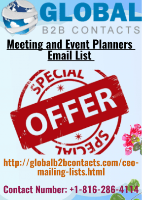 Meeting and Event Planners Email List