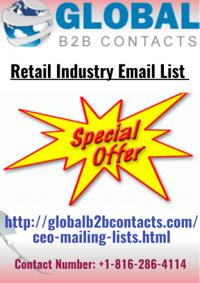 Retail Industry Email List