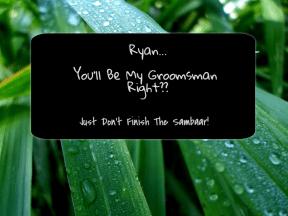 GroomsMan Invite