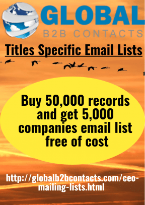 Titles Specific Email Lists