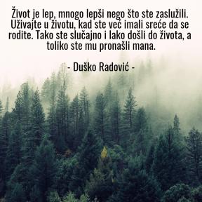 Život - Duško Radović
