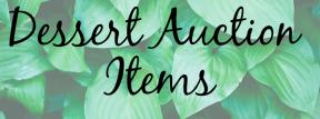 Dessert Auction Items