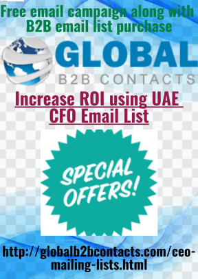 Increase ROI using UAE CFO Email List