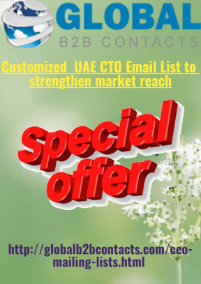 Customized UAE CTO Email List to strengthen market reach
