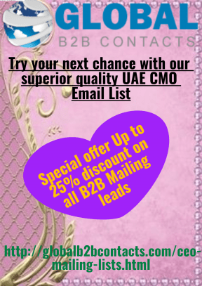 Try your next chance with our superior quality UAE CMO Email List