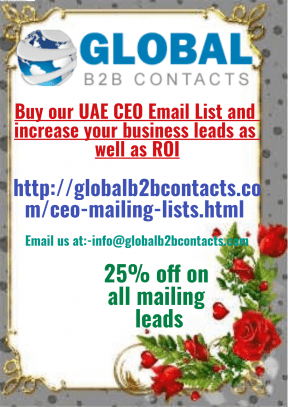 Buy ourUAE CEO Email List and increase your business leads as well as ROI