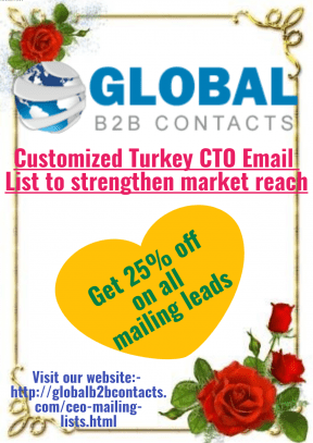 Customized Turkey CTO Email List to strengthen market reach