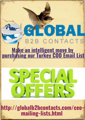 Make an intelligent move by purchasing our Turkey COO Email List