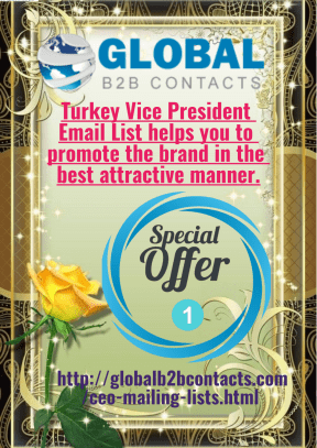 Turkey Vice President Email List helps you to promote the brand in the best attractive manner.