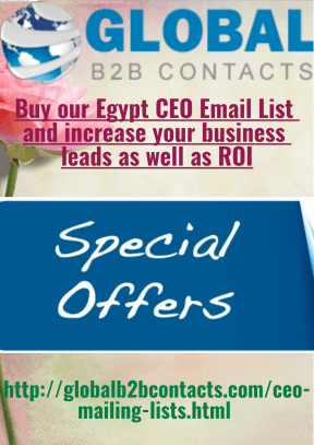 Buy our Egypt CEO Email List and increase your business leads as well as ROI