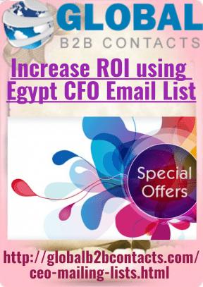Increase ROI using Egypt CFO Email List