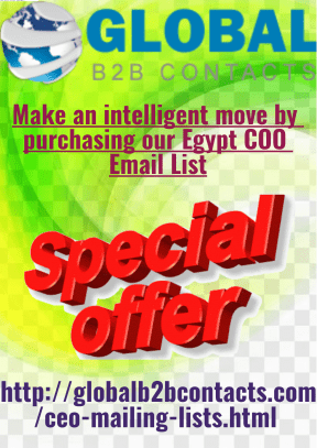 Make an intelligent move by purchasing ourEgypt COO Email List