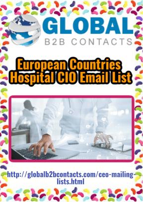 European Countries Hospital CIO Email List