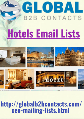 hotels email list
